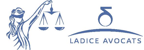 La justice et le logo Ladice Avocats